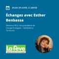 Webinaire avec Esther Benbassa