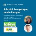 Webinaire – Sobriété énergétique, mode d'emploi