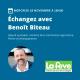 Webinaire avec Benoît Biteau